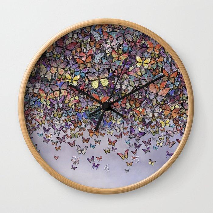 butterfly cascade Wall Clock