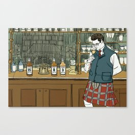 """Whiskey Can't Hide Its Age Either"" by Daniel Zalkus for Nautilus Canvas Print"