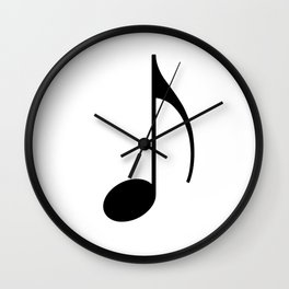 Music Eighth Note Simple Wall Clock