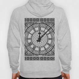 Big Ben, Clock Face, Intricate Vintage Timepiece Watch Hoody