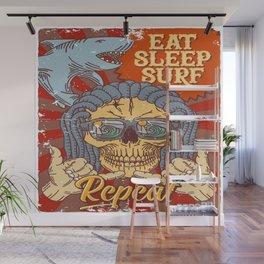 EAT SLEEP SURF - Hang Loose Wall Mural