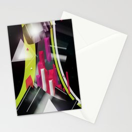 Triangles Track Stationery Cards