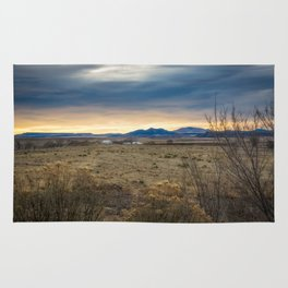 Forever West - Warm Light on a Cold Winter Morning in New Mexico Rug