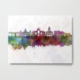 Edinburgh skyline in watercolor background Metal Print