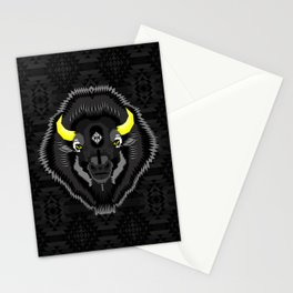 Geometric Bison Stationery Cards