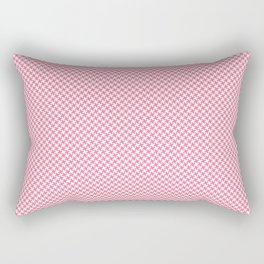 Houndstooth White & Pink small Rectangular Pillow