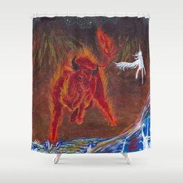 The Last Unicorn Shower Curtain