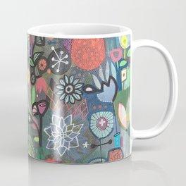 carré fleuri imaginaire 2 Coffee Mug