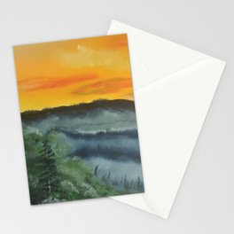 What lies beyond the valley Stationery Cards