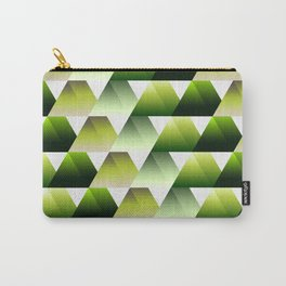 Soft green gradient 3d triangles Carry-All Pouch