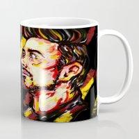 tony stark Mugs featuring Tony Stark by AlysIndigo