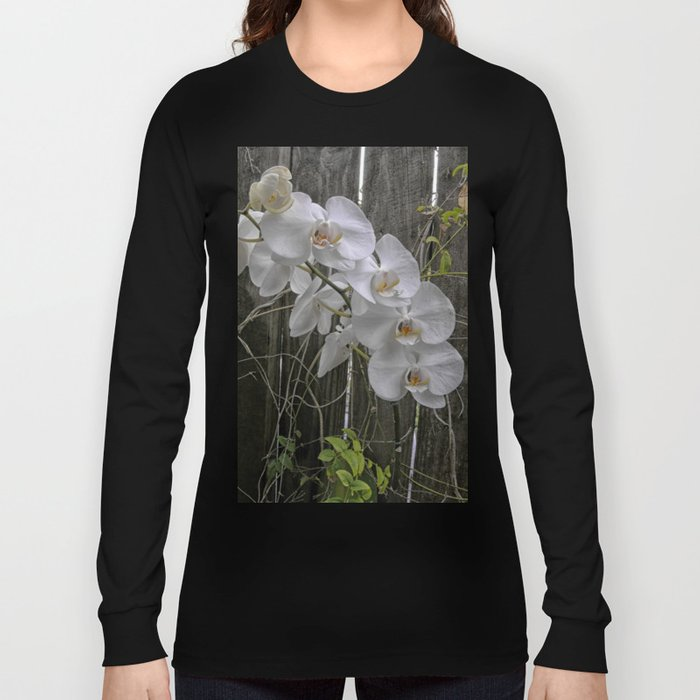 White Moth Orchid Long Sleeve T-shirt