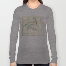 Vintage Map of Cape Cod (1857) Long Sleeve T-shirt