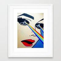 floyd Framed Art Prints featuring Pink Floyd by Gabrielle Wall