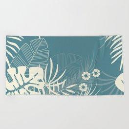 Tropical pattern 047 Beach Towel