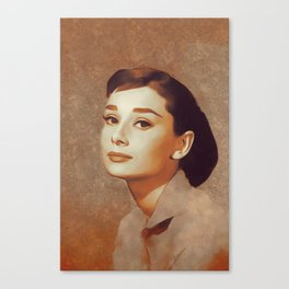 Audrey Hepburn, Hollywood Legend Canvas Print