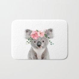 Baby Koala with Flower Crown Bath Mat