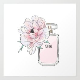 Perfume and peony Art Print
