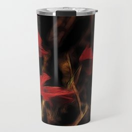 Glowing poppys Travel Mug