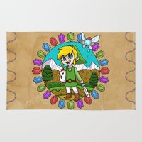 hyrule Area & Throw Rugs featuring Hyrule Adventurer by Crimson Pumpkin