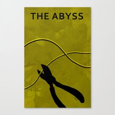 The Abyss Minimal Movie Poster (One Way Trip) Canvas Print