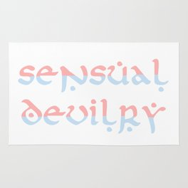 Sensual Devilry Pink Blue Rug