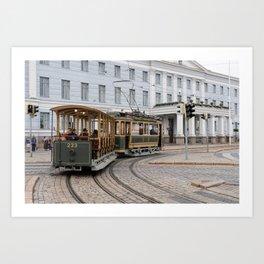 Helsinki Classic Tram Art Print