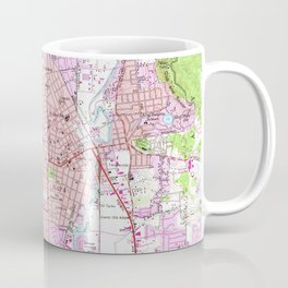 Vintage Map of Napa California (1951) Coffee Mug