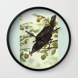 Seven of Crows Wall Clock