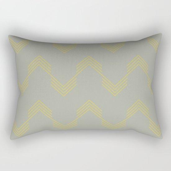 Simply Deconstructed Chevron Mod Yellow on Retro Gray Rectangular Pillow