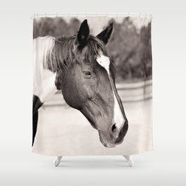 Handsome in Black and White Shower Curtain