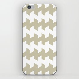 jaggered and staggered in tidal foam iPhone Skin