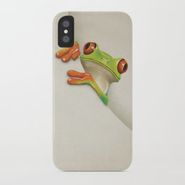 Little Red Eyed Tree Frog iPhone Case