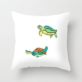 Are You A Fan Of Astronomy? An Astronaut Dreamer? A Cute Turtle Astronaut T-shirt Stars Shining Fly Throw Pillow