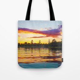 Up North Sunset Tote Bag