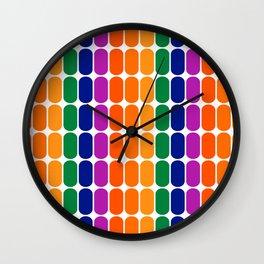 Rainbow Capsule Wall Clock