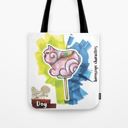 Dog Horoscope Tote Bag