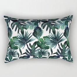 Tropical Leaves Deep - medium Rectangular Pillow