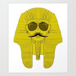 Cool Mustachioed Sphinx with Sunglasses & Mustache Art Print