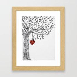 Love yourself first Framed Art Print