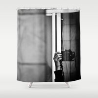 photographer Shower Curtains featuring Photographer by Estrella Díaz Photovisual