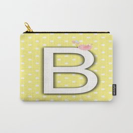 Alphabet Yellow Pastel Color Carry-All Pouch