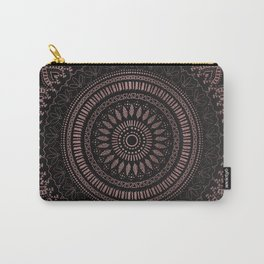 Modern tribal rose gold mandala design Carry-All Pouch