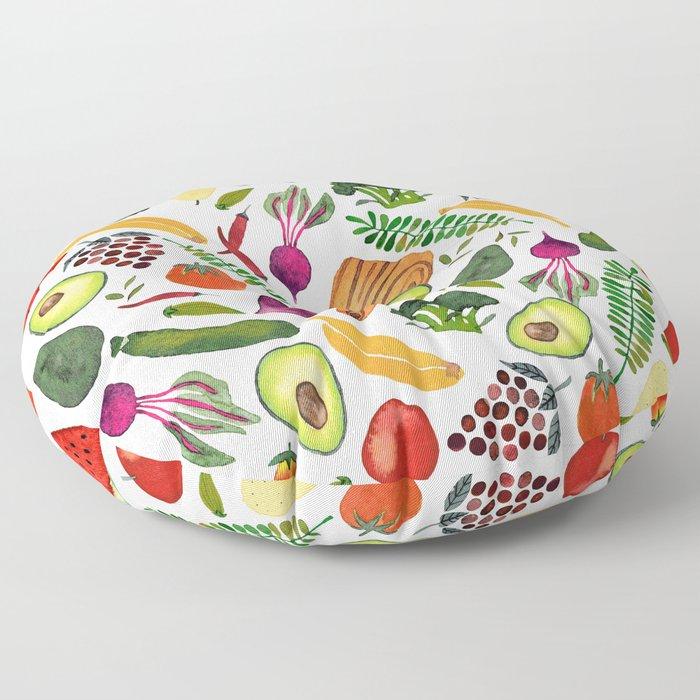 Raw food Floor Pillow