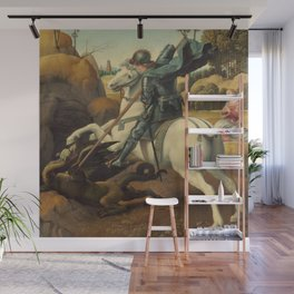 Saint George and the Dragon Oil Painting By Raphael Wall Mural