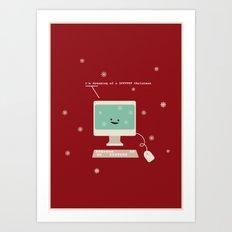 I'm Dreaming a #FFFFFF Christmas Art Print