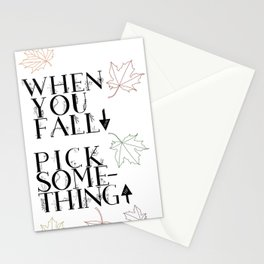 When You Fall Down.... Stationery Cards