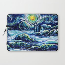 Tardis Lost In The Middle Wave Laptop Sleeve