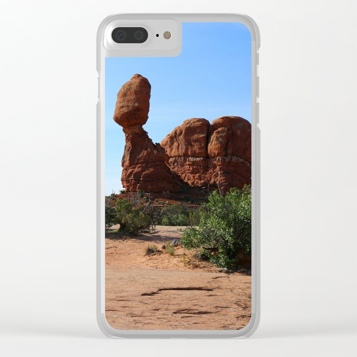 Balanced Rock Clear iPhone Case