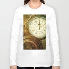 Steampunk, the clocks Long Sleeve T-shirt